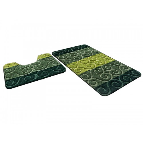 Купить Набор ковриков для ванной РР MIX 4K изумрудный, SHAHINTEX по цене от 1 224 Р. с доставкой