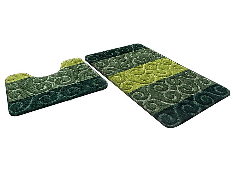 Набор ковриков для ванной РР MIX 4K изумрудный, SHAHINTEX
