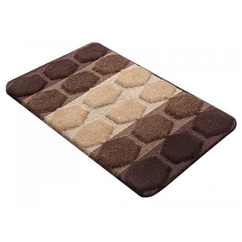 Купить Коврик для ванной РР MIX 4K шоколадный, SHAHINTEX по цене от 1 125 Р. с доставкой