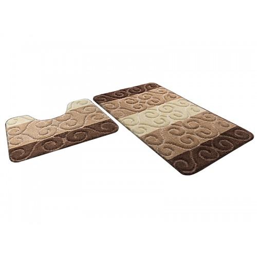 Купить Набор ковриков для ванной МАРСЕЛЬ кофе с молоком, SHAHINTEX по цене от 1 178 Р. с доставкой