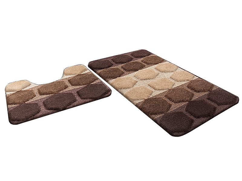 Набор ковриков для ванной РР MIX 4K шоколадный, SHAHINTEX