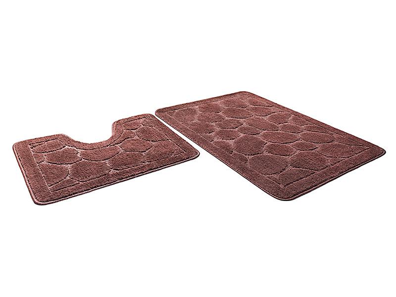 Набор ковриков для ванной ЭКО шоколадный, SHAHINTEX