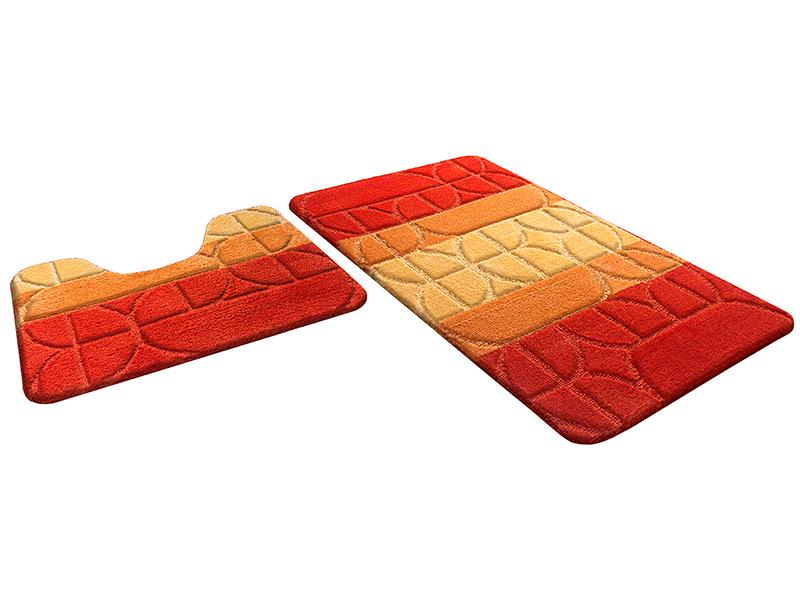 Набор ковриков для ванной РР MIX 4K оранжевый, SHAHINTEX