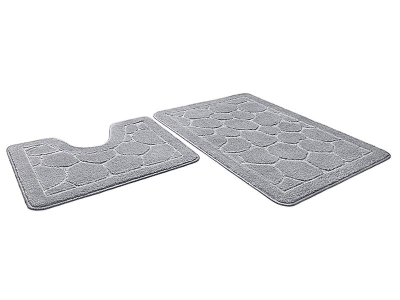 Набор ковриков для ванной ЭКО серый, SHAHINTEX