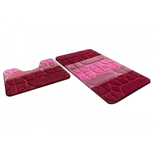 Купить Набор ковриков для ванной ВЕРОНА бордовый, SHAHINTEX по цене от 1 178 Р. с доставкой