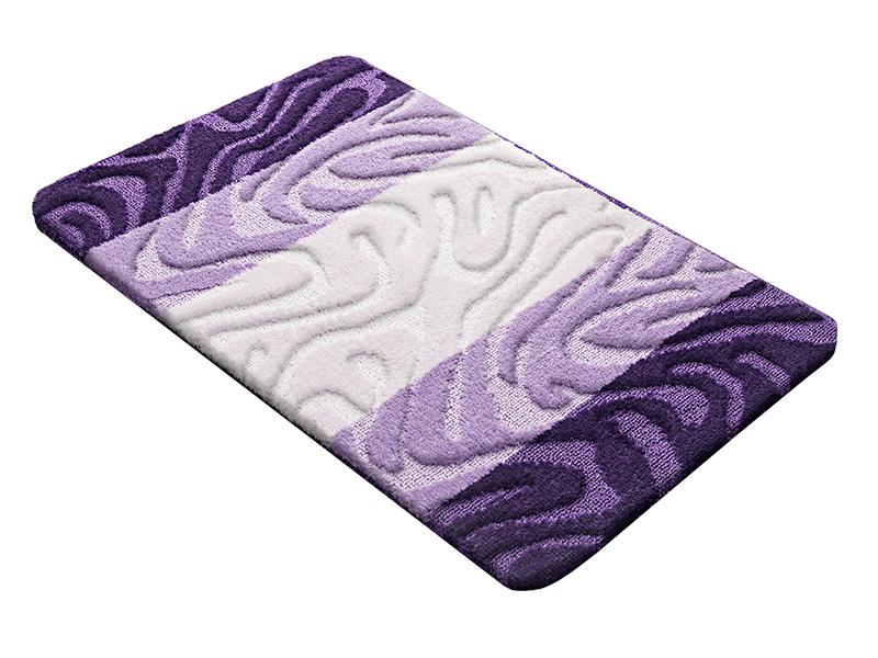 Коврик для ванной PP MIX 4K 60х100 фиолетовый, SHAHINTEX