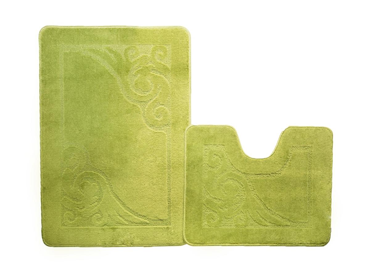 Набор ковриков для ванной ФЛОРЕНЦИЯ салатовый, SHAHINTEX