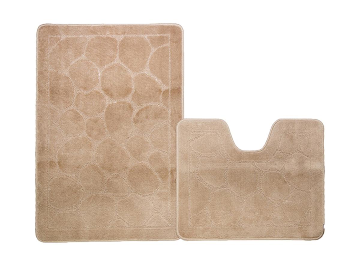 Набор ковриков для ванной КАИР бисквитный, SHAHINTEX