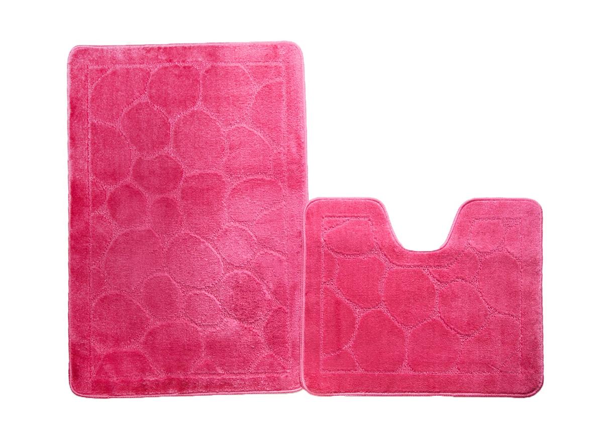 Набор ковриков для ванной КАИР розовый, SHAHINTEX