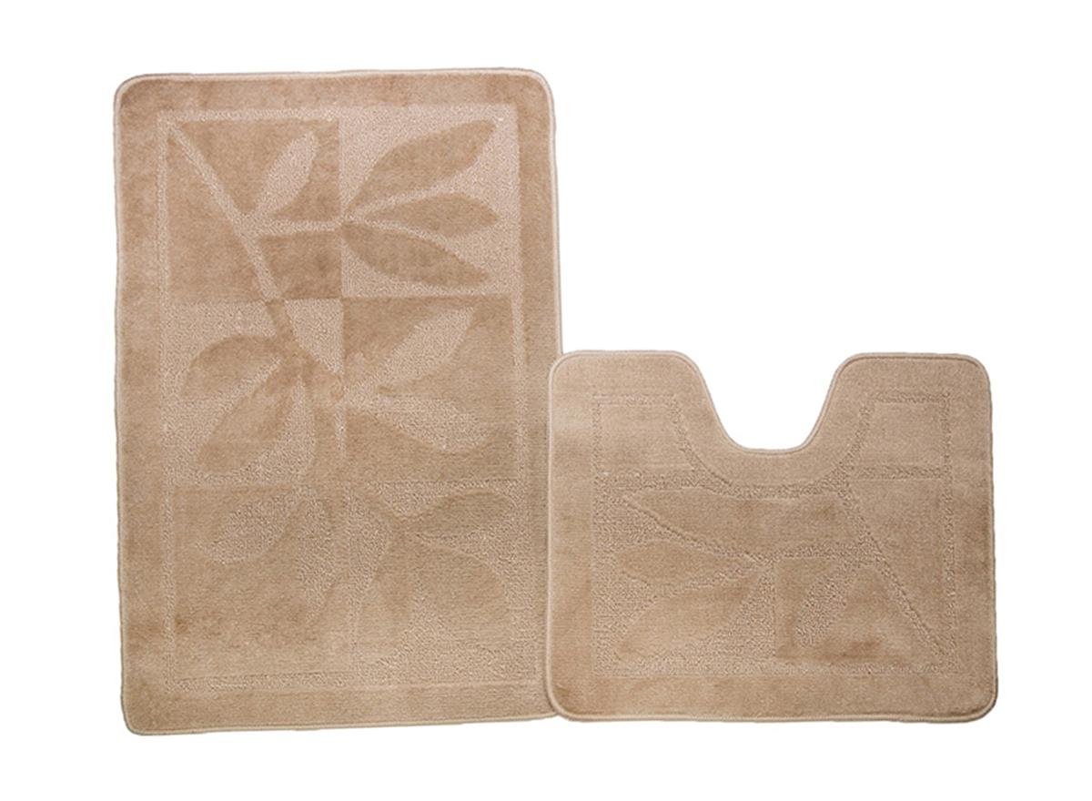 Набор ковриков для ванной МАНХЕТТЕН бисквитный, SHAHINTEX