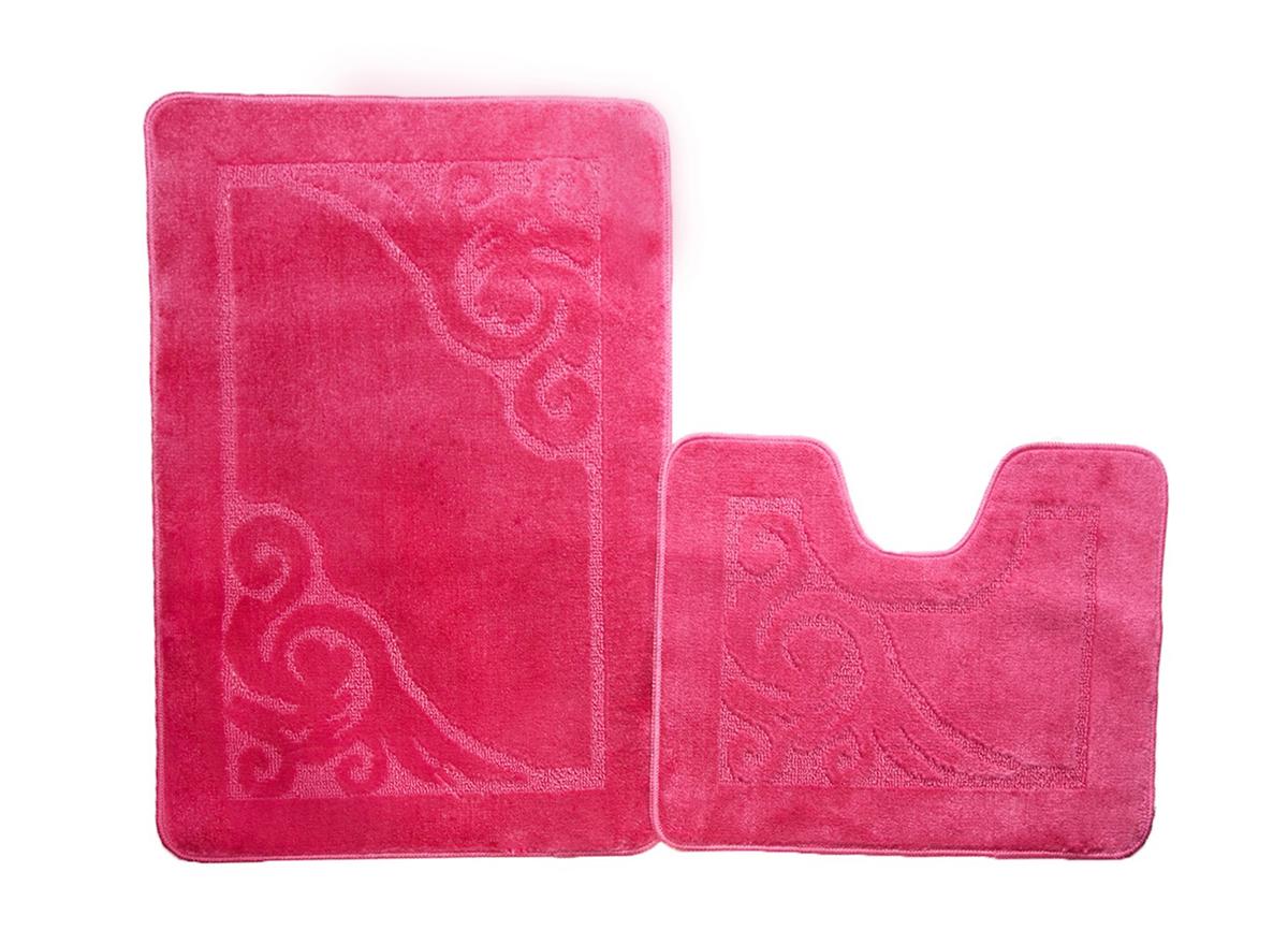 Набор ковриков для ванной ВЕНЕЦИЯ розовый, SHAHINTEX