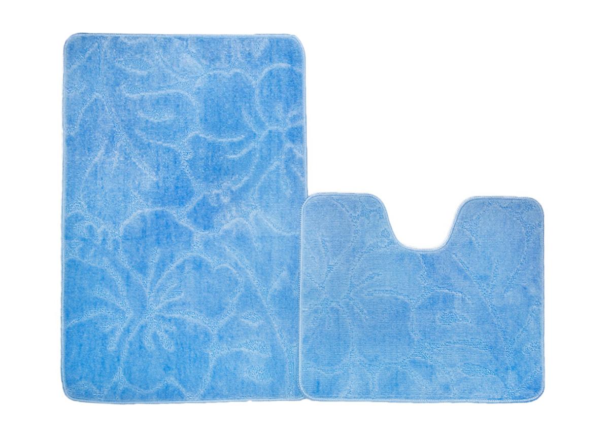 Набор ковриков для ванной ФЛОРЕНЦИЯ голубой, SHAHINTEX