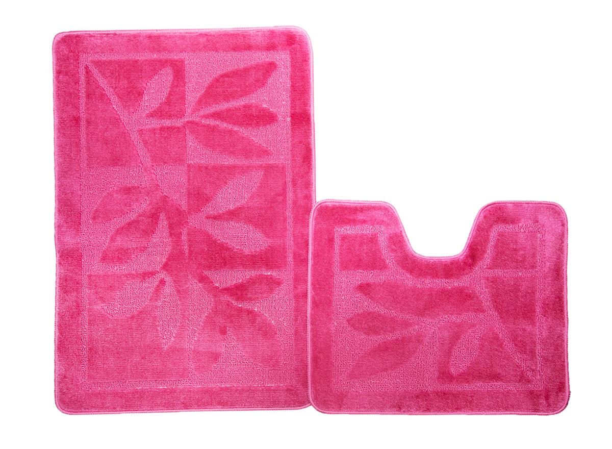Набор ковриков для ванной МАНХЕТТЕН розовый, SHAHINTEX