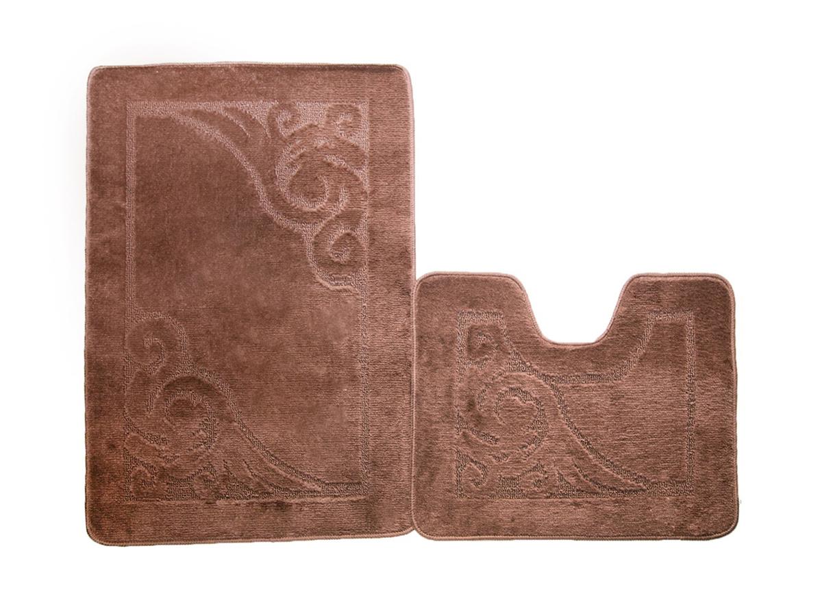 Набор ковриков для ванной ВЕНЕЦИЯ шоколадный, SHAHINTEX
