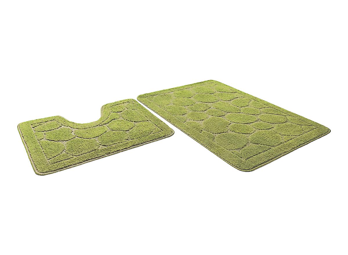 Набор ковриков для ванной КАИР салатовый, SHAHINTEX