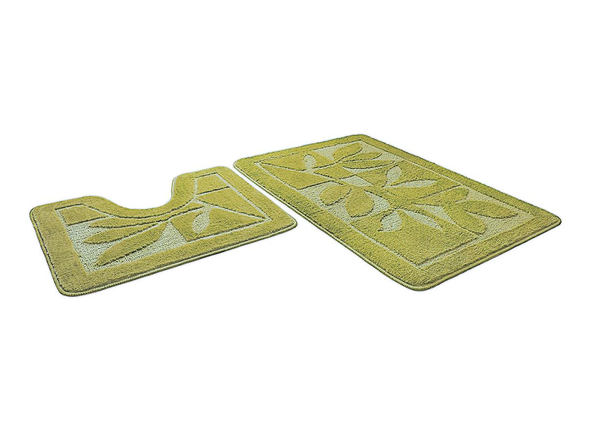 Набор ковриков для ванной ЭКО салатовый, SHAHINTEX