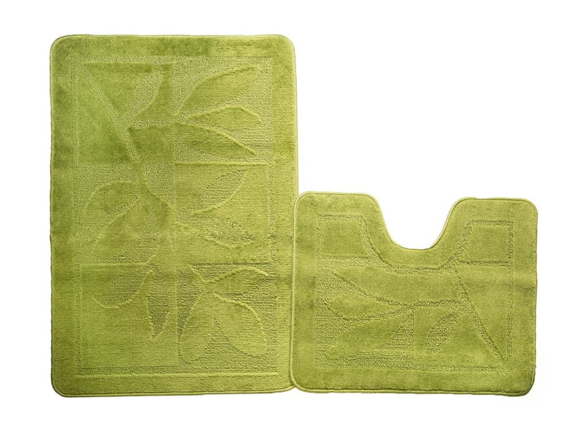 Набор ковриков для ванной МАНХЕТТЕН салатовый, SHAHINTEX