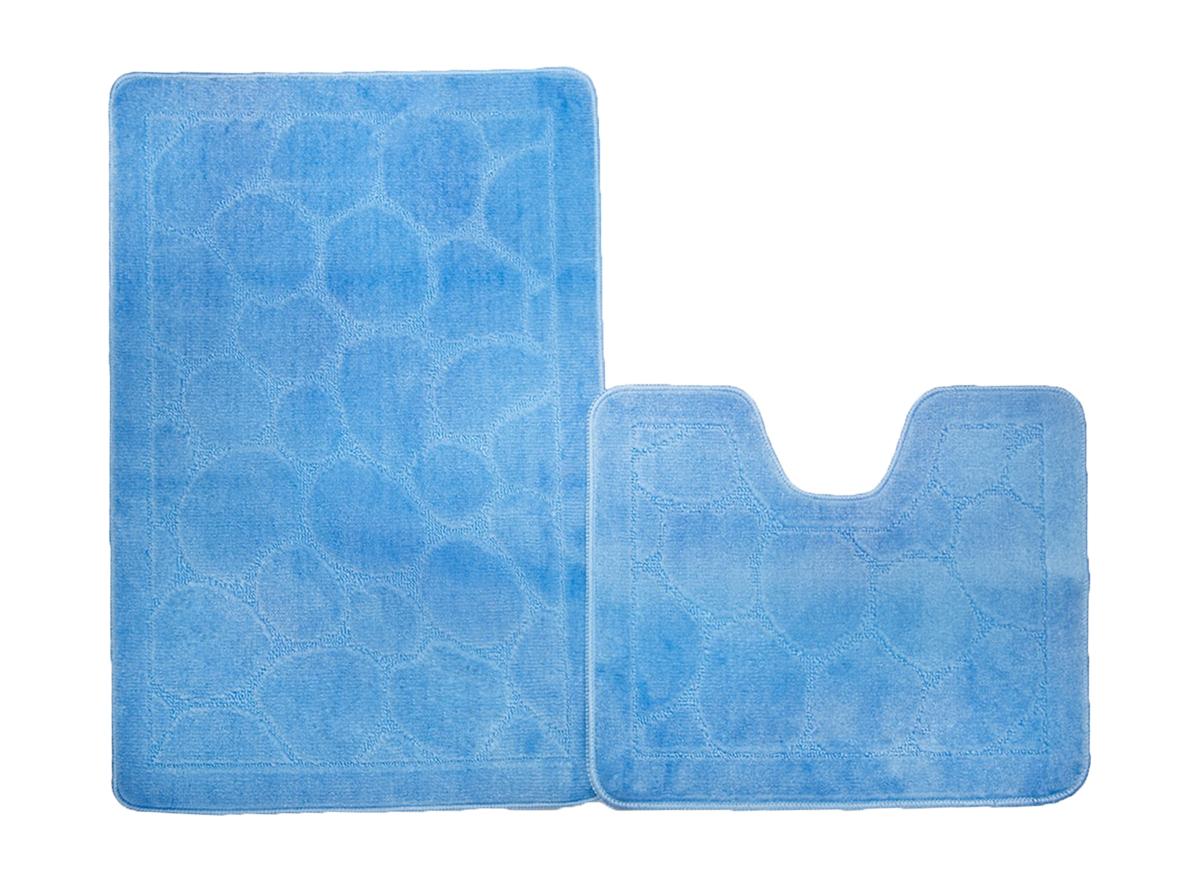 Набор ковриков для ванной КАИР голубой, SHAHINTEX