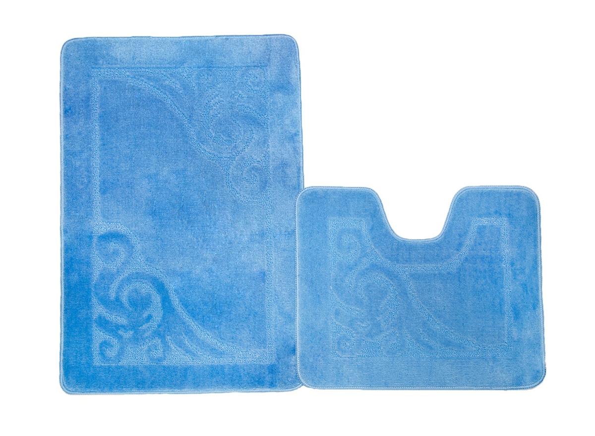 Набор ковриков для ванной ВЕНЕЦИЯ голубой, SHAHINTEX