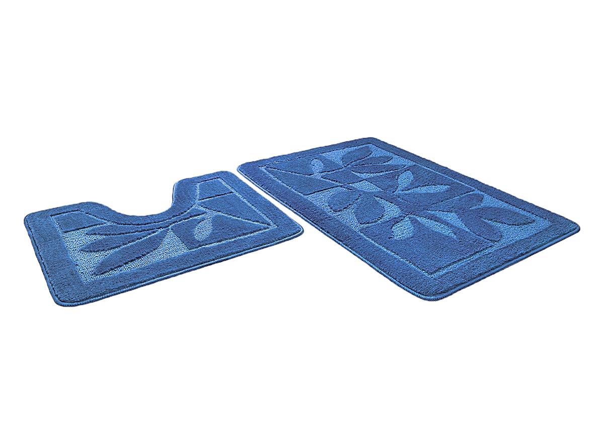 Набор ковриков для ванной МАНХЕТТЕН синий, SHAHINTEX