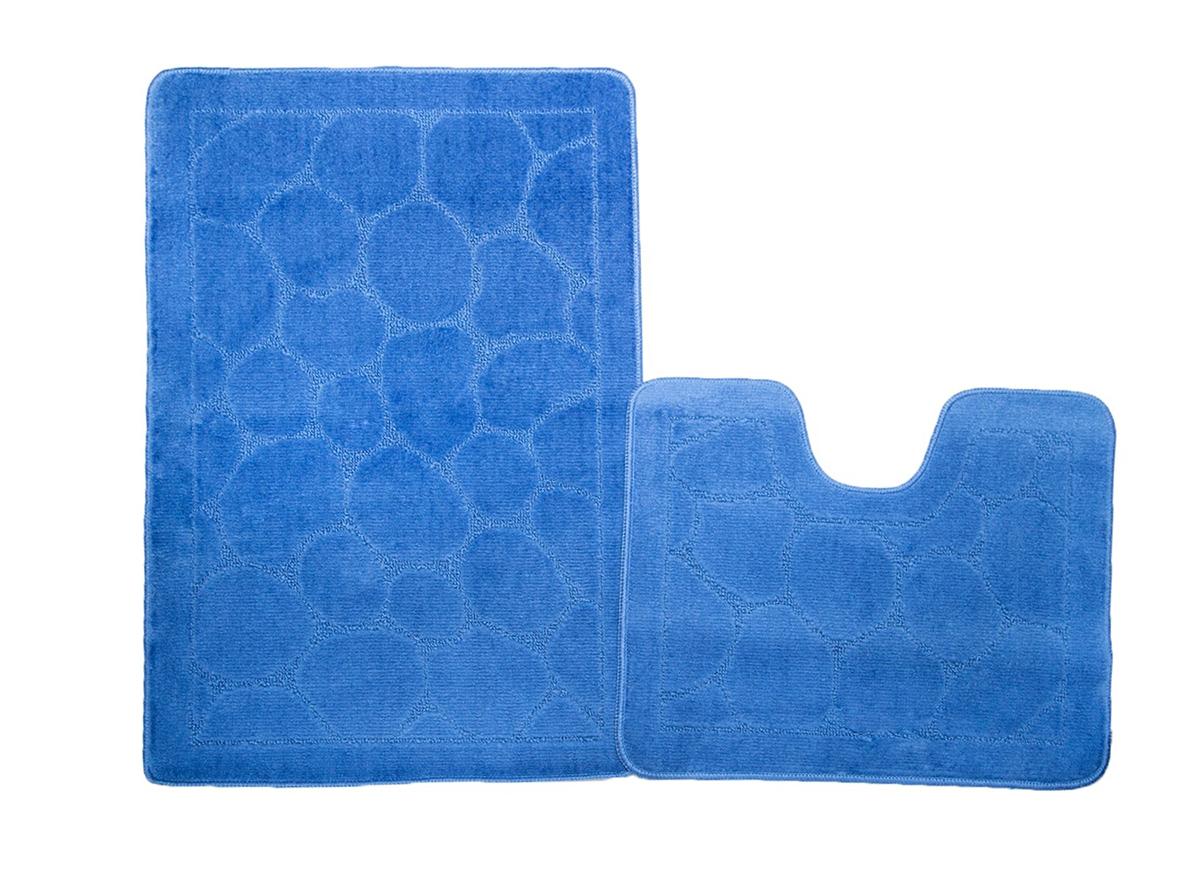 Набор ковриков для ванной ВЕРСАЛЬ синий, SHAHINTEX