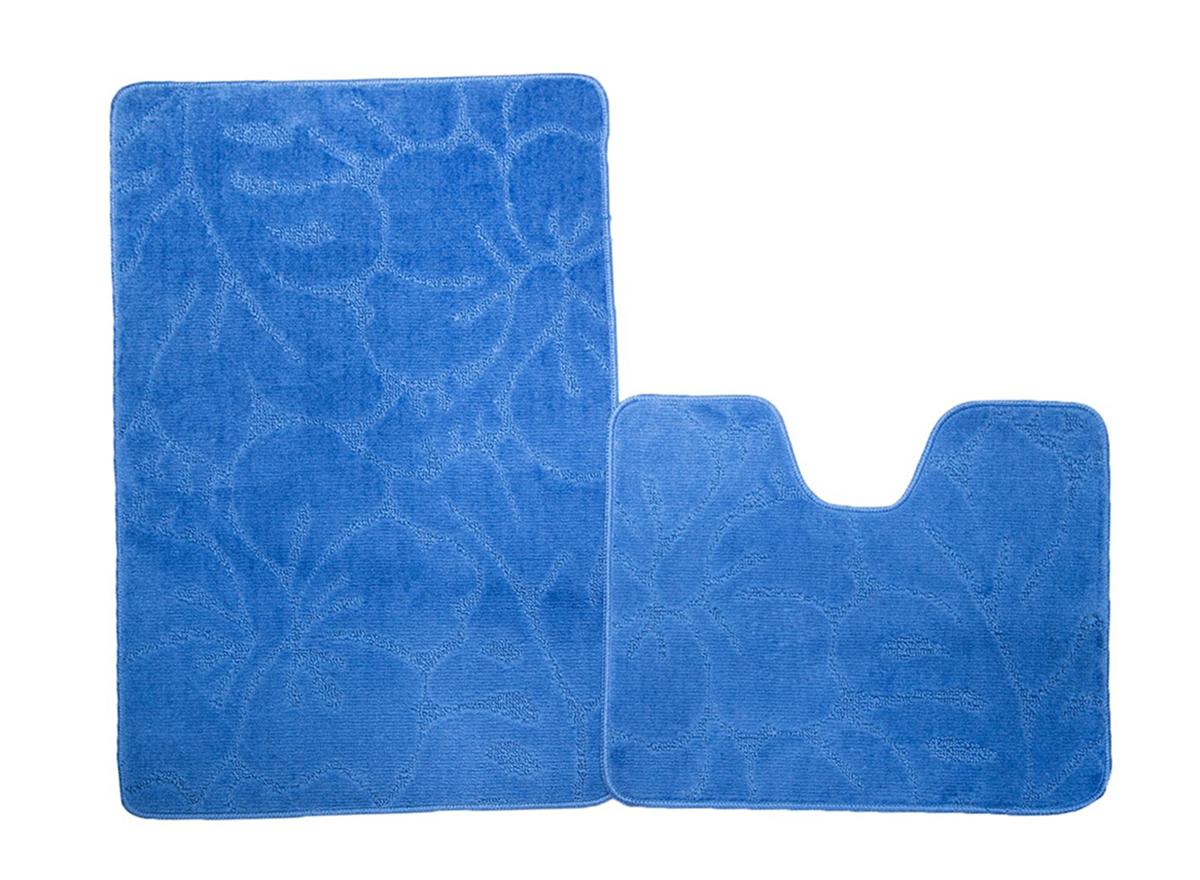 Набор ковриков для ванной ФЛОРЕНЦИЯ синий, SHAHINTEX