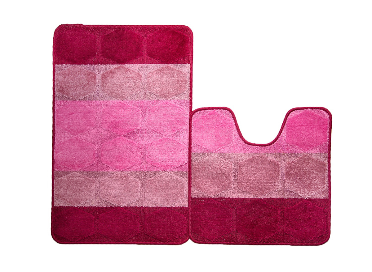 Набор ковриков для ванной ТАРРАГОНА бордовый, SHAHINTEX
