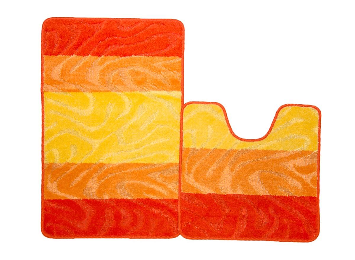 Набор ковриков для ванной СЕН-ТРОПЕ оранжевый, SHAHINTEX