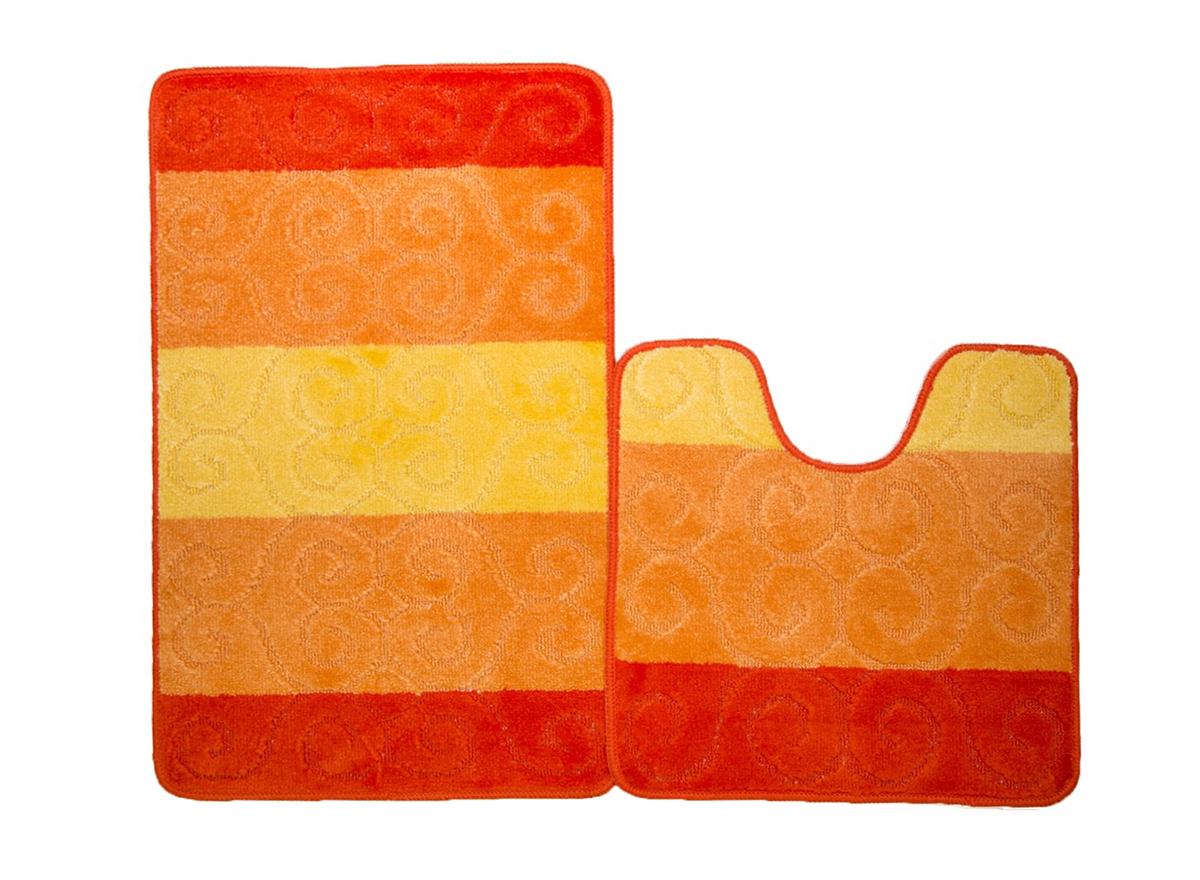 Набор ковриков для ванной МАРСЕЛЬ оранжевый, SHAHINTEX