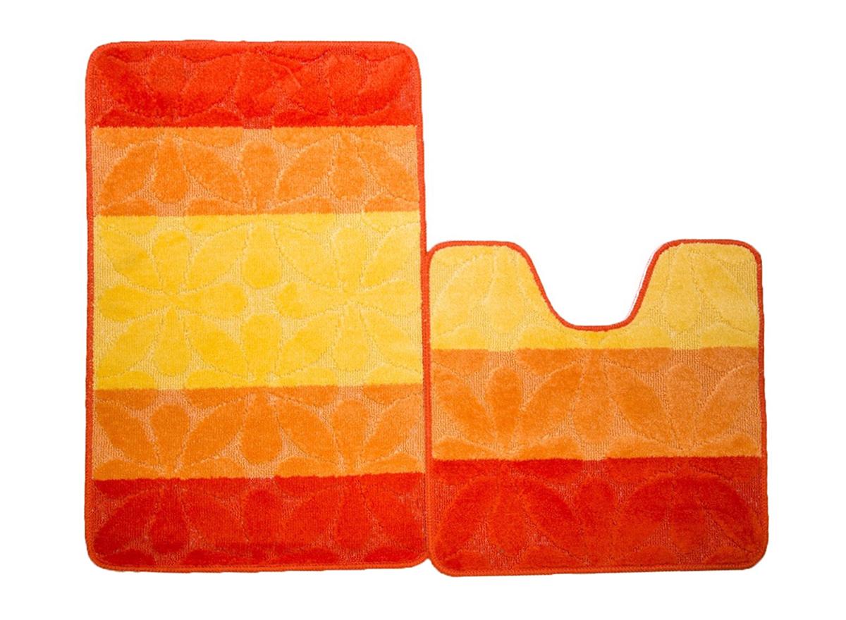 Набор ковриков для ванной ПРОВАНС оранжевый, SHAHINTEX