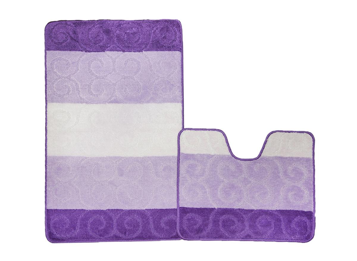 Набор ковриков для ванной МАРСЕЛЬ фиолетовый, SHAHINTEX