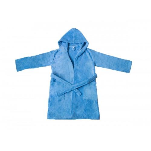 """Купить Детский махровый халат с капюшоном, голубой, """"ЭГО"""" по цене от 1 500 Р. с доставкой"""