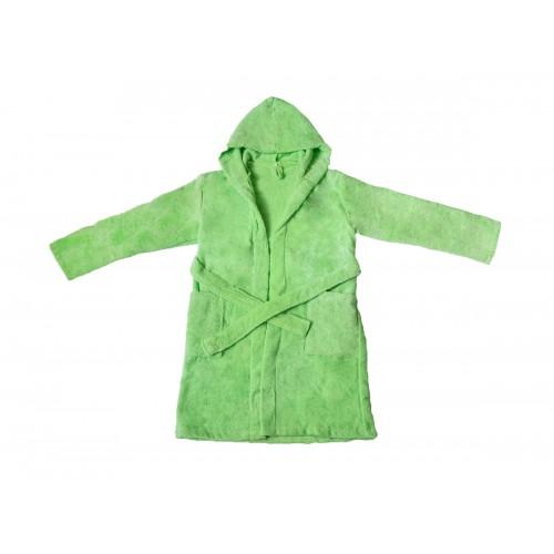 """Купить Детский махровый халат с капюшоном, салатовый, """"ЭГО"""" по цене от 1 500 Р. с доставкой"""
