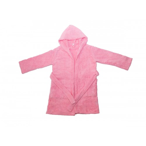 """Купить Детский махровый халат с капюшоном, розовый, """"ЭГО"""" по цене от 1 500 Р. с доставкой"""