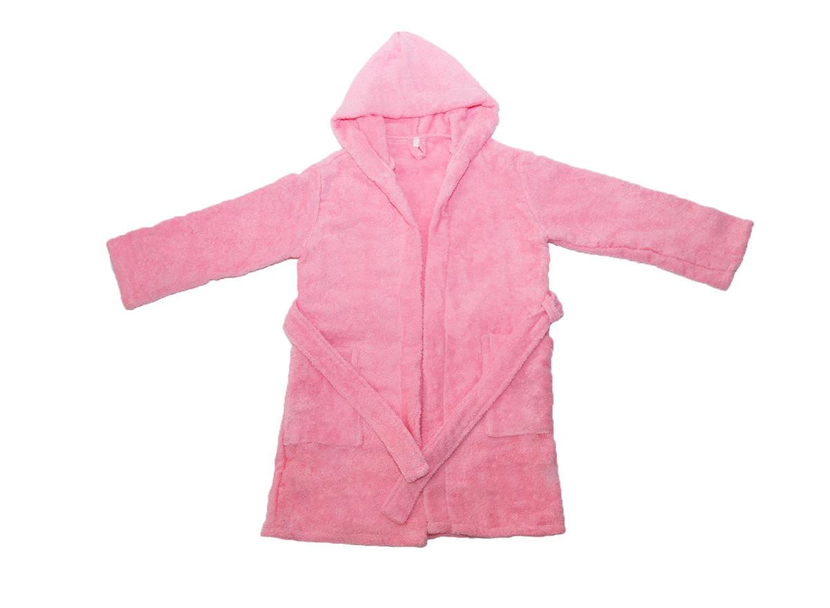 """Детский махровый халат с капюшоном, розовый, """"ЭГО"""""""