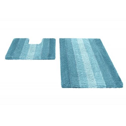 Купить Набор ковриков для ванной MULTIMAKARON голубой, SHAHINTEX по цене от 2 218 Р. с доставкой