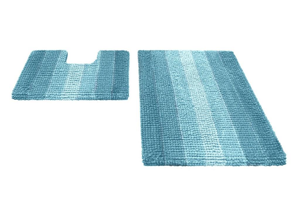 Набор ковриков для ванной MULTIMAKARON голубой, SHAHINTEX