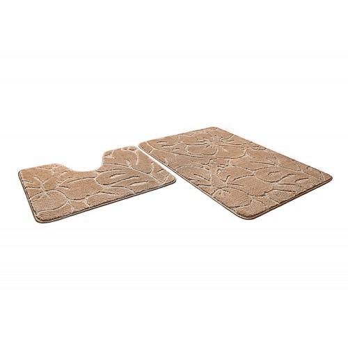 Купить Набор ковриков для ванной ФЛОРЕНЦИЯ бисквитный, SHAHINTEX по цене от 1 246 Р. с доставкой