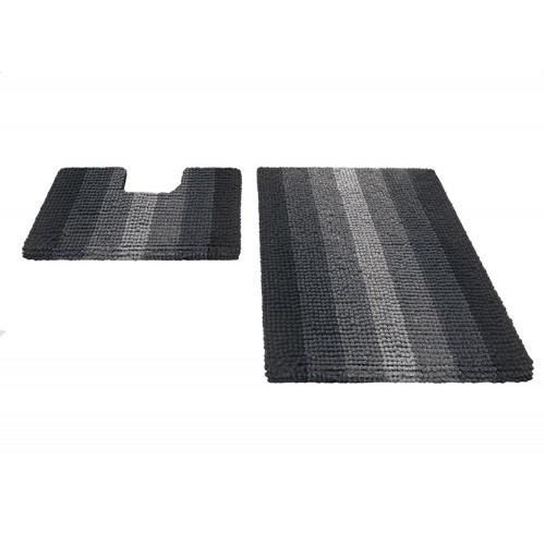 Купить Набор ковриков для ванной MULTIMAKARON черный, SHAHINTEX по цене от 2 218 Р. с доставкой