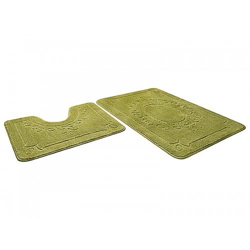Купить Набор ковриков для ванной ЭКО салатовый, SHAHINTEX по цене от 1 320 Р. с доставкой