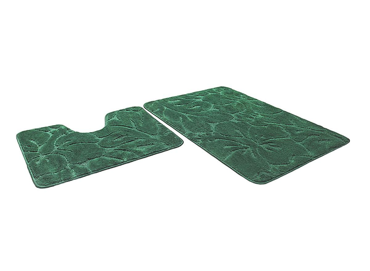 Набор ковриков для ванной ЭКО изумрудный, SHAHINTEX