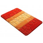 Купить Коврик для ванной ВЕРОНА оранжевый, SHAHINTEX по цене от 1 083 Р. с доставкой