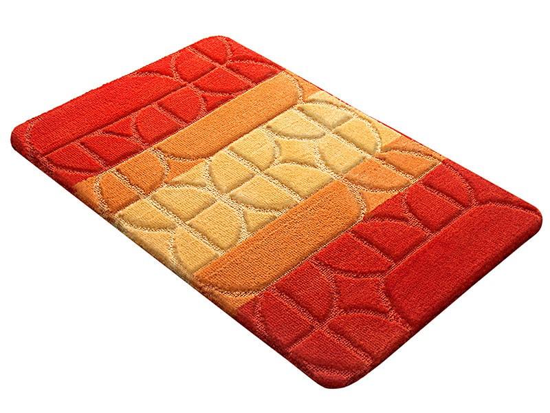 Коврик для ванной PP MIX 4K 60х100 оранжевый, SHAHINTEX