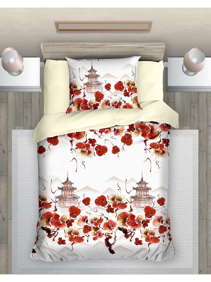 """Комплект постельного белья из поплина """"Восточный сад"""", ЭГО"""