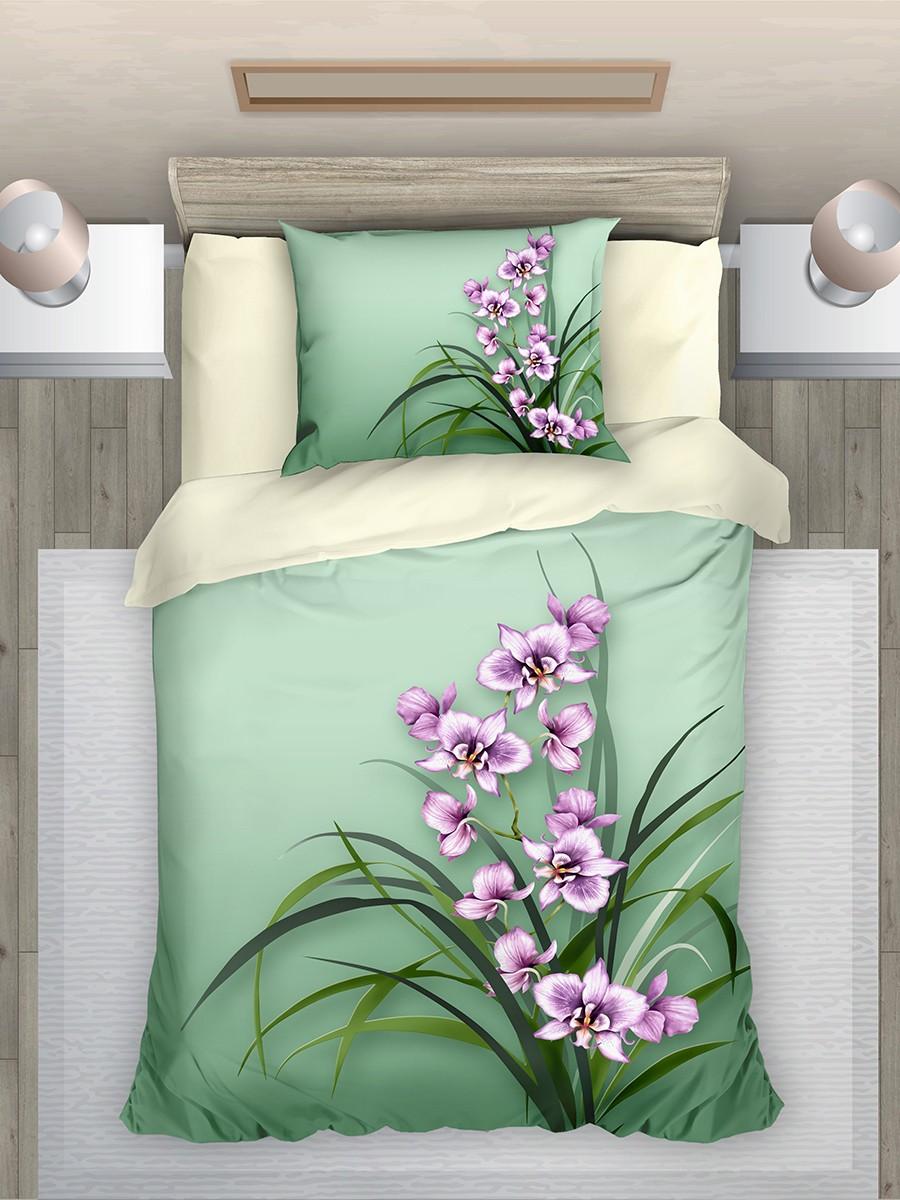 """Комплект постельного белья из поплина """"Орхидеи"""", ЭГО"""