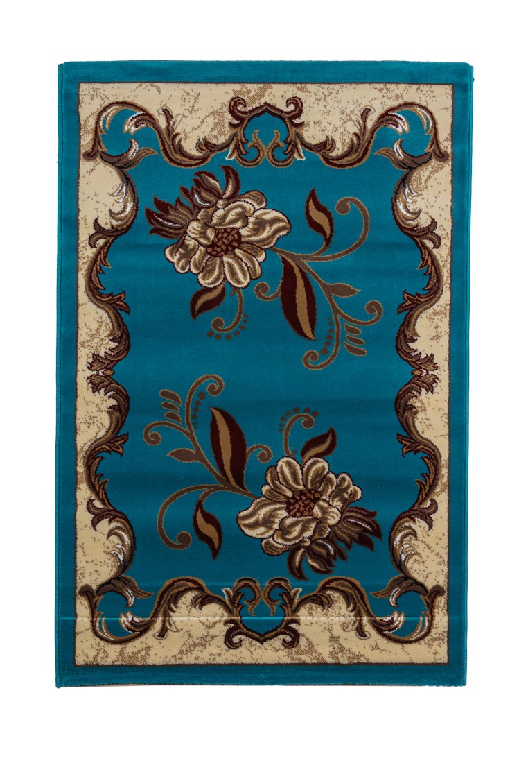 Ковер ворсовый ORHIDEA голубой/бежевый УК-1040