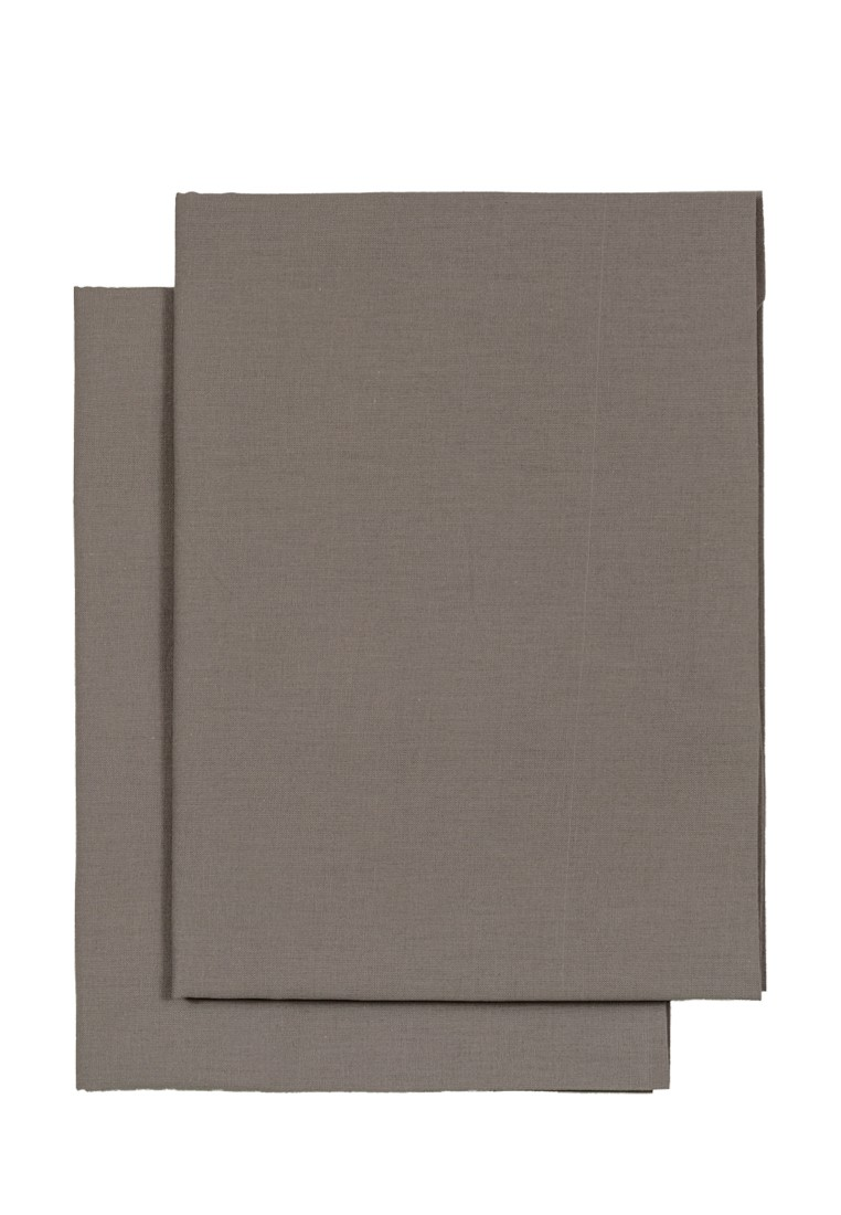 Комплект наволочек для ортопедических подушек из поплина ЭГО темно-серый
