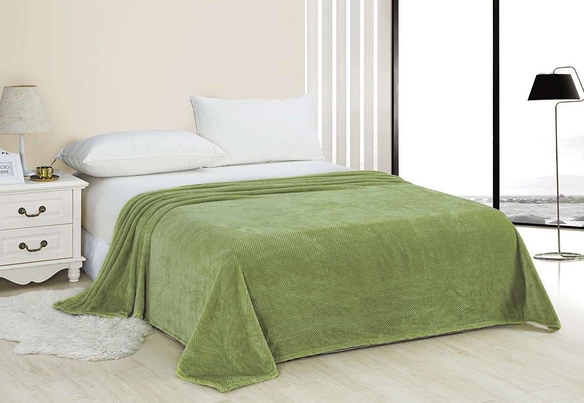 Плед из велсофта ЭГО светло-зеленый ЭПл-022