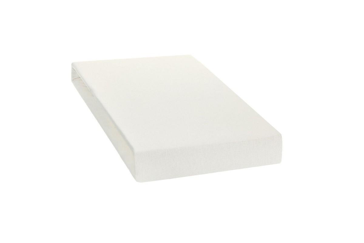 Простыня на резинке трикотажная белая ЭГО