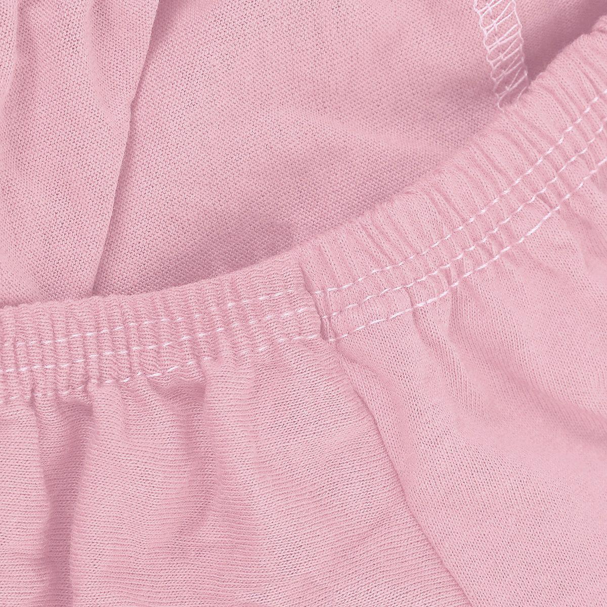 Простыня на резинке трикотажная светло-розовая ЭГО